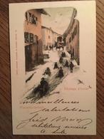 CPA, Suisse, Illustration, WINTERLANDSCHAFT , Paysage D'Hiver, éd Comptoir De Phototypie, Neuchâtel, 1899, Timbre - Unclassified
