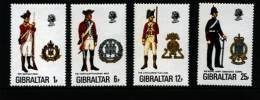GIBRALTAR - 1976  MILITARY UNIFORMS  SET   MINT NH - Gibilterra