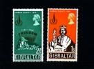 GIBRALTAR - 1968  HUMAN RIGHTS   SET  MINT NH - Gibilterra