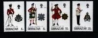 GIBRALTAR - 1975  MILITARY UNIFORMS  SET  MINT NH - Gibilterra