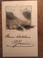 CPA, Suisse, Illustration, Rhonegletscher Glacier Du  Rhône, éd Comptoir De Phototypie, Neuchâtel, écite En 1899, Timbre - Sin Clasificación