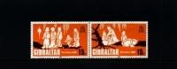 GIBRALTAR - 1980  CHRISTMAS  PAIR MINT NH - Gibilterra