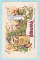 Bu.1 Buvards **  Moutarde De Dijon Amora + Les Annimaux Fables De La Fontaine =Corbeaux Renard Tortue Chèvre Grenouille - Animales