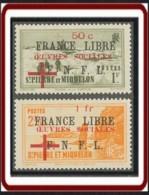 Saint-Pierre Et Miquelon 1940-1957 - N° 310 & 311 (YT) N° 319 & 320 (AM) Neufs *. - Neufs