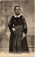 CPA Jeune Fille De Chateauneuf-du-Faou - Revenant De La Fete (482934) - Personnages