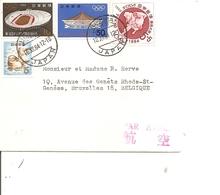 Jo De Tokyo -1964 ( Lettre Par Avion Du Japon De 1964 Vers La Belgique à Voir) - Sommer 1964: Tokio