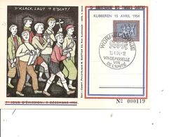 Luxembourg ( Carte Commémorative De 1954 à Voir) - Luxemburg