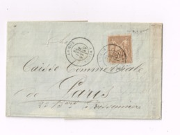 Lettre De Amiens à Paris. - 1876-1878 Sage (Tipo I)