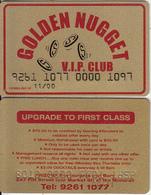 AUSTRALIA - Golden Nugget, VIP Member Card, Exp.date 11/00, Used - Casino Cards