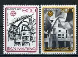 Saint-Marin YT 1148-1149 XX / MNH Europa 1987 Architecture - San Marino