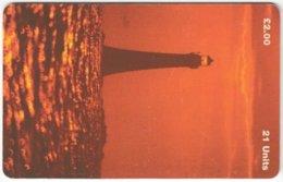 ISLE OF MAN A-039 Chip Telecom - Landscape, Coast, Lighthouse - Used - Royaume-Uni