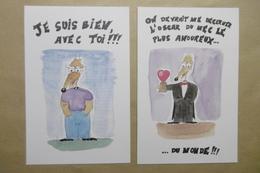 """Humour Amour Animaux RAT Souris Mouse """"Oscar Du Mec Le Plus Amoureux Du Monde !!!"""" - Lot De 2 Cartes - Humor"""