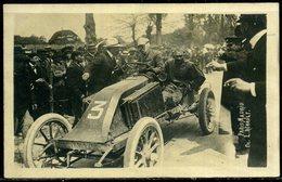 Cp Photo   Course Automobile Paris Madrid  Avec Louis Renault,  Beau Plan - Sport Automobile