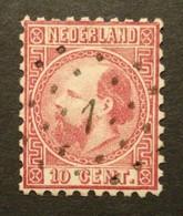 Nederland/Netherlands - Nr. 8IIB Met Puntstempel 1 (gestempeld/used) - Gebruikt