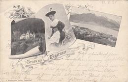 Litho Gruss Aus TEGERNSEE - Karte Gel.1898, Sehr Schöne Seltene Karte ... - Tegernsee
