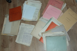 Mine MINES D'OR DU CHATELET CREUSE Lot Documents Divers Plan Rapport Courriers - Tools