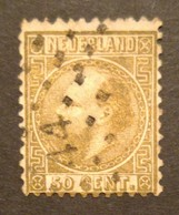 Nederland/Netherlands - Nr. 12IA Met Puntstempel 44 (gestempeld/used) - 1852-1890 (Guillaume III)