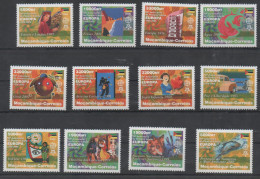 MOZAMBIQUE ,MNH, 2006, 50TH ANNIVERSARY OF EUROPA STAMPS, FISH, WOLVES, BIRDS, COSTUMES, MUSIC, 12v - Europa-CEPT
