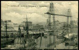 Cpa  Marseille Le Pont Transbordeur Et Le Bassin De Carénage,  Beau Plan - Autres