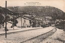 46 Laval De Cere La Gare Cpa Carte Animée Train Locomotive à Vapeur - France