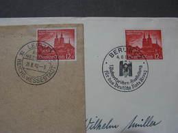 DR  2 Belege Mit SST  Berlin Und Reichsmessestadt 1940 - Deutschland