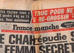 France Dimanche N°1487 Le Chah Répudie Sa Deuxième Femme Secrète - Gérard Lenorman - Michel Simon - Jacques Brel De 1975 - Televisie