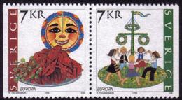 Suède - Europa CEPT 1998 - Yvert Nr. 2041/2042 - Michel Nr. 2058 Dl/2059 Dr  ** - 1998