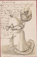 Vienne O.F. 1335 Style Viennoise Illustrator Illustrateur Silverdust Paques Fantaisie Easter Rabbit Lapin Paashaas Egg - Pasen