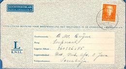Dutch Indies 1950 Lettersheet For KNIL Military From Roermond NL To Soerabaja - 1911.2826 - 1949-1980 (Juliana)