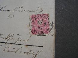 DR Darmstadt 1881 An Den Steuerinspektor Nach Stockhausen Herbstein - Covers & Documents