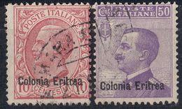 ERITREA - Lotto Di 2 Valori Usati Come Da Immagine: Yvert 32 E 35. - Eritrea