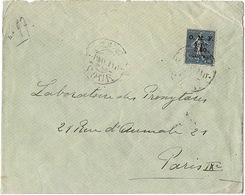 Liban LEBANON 1923, Surchargé OMF / Syrie 2.50 Piastres N°97 Au Départ De SOUR (TYR) Passage Par Beyrouth Pour Paris - Liban