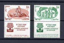 ISRAEL :  Anno Mondiale Del Rifugiato  -  2 Val. MNH**  Con Tab  Del  7.04.1960 - Nuovi (con Tab)