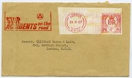 Slogan Postmark On Cover STOP ACCIDENTS / Machine Franking / London Borough Of Lewisham - Postal Stationery - 1952-.... (Elizabeth II)