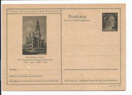 DR P 307 42-31-B01 ** - 6 Pf Hitler Bildpostkarte : Posen Rathaus - Ganzsachen
