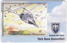 TURKEY C-312 Chip Telekom - Painting, Military, Historic Aircraft - Used - Türkei