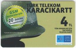 TURKEY C-330 Chip Telekom - Military, Helmet - Used - Türkei