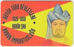 TURKEY C-334 Chip Telekom - Painting, Historic Ruler - Used - Türkei