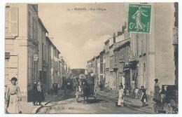 MARANS ( 17 - Charente Maritime ) - Rue D'Aligre ( Très Animée , Personnes ) - TTB Etat - Other Municipalities