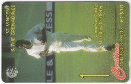 ST. VINCENT & GRENADINES A-051 Magnetic Cable & Wireless - Sport, Cricket - 199SVDA - Used - San Vicente Y Las Granadinas