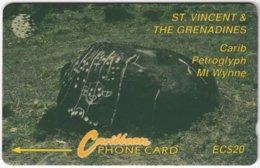 ST. VINCENT & GRENADINES A-059 Magnetic Cable & Wireless - Culture, Petroglyph - 10CSVB - Used - San Vicente Y Las Granadinas