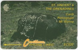 ST. VINCENT & GRENADINES A-060 Magnetic Cable & Wireless - Culture, Petroglyph - 8CSVC - Used - San Vicente Y Las Granadinas