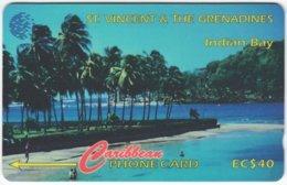 ST. VINCENT & GRENADINES A-062 Magnetic Cable & Wireless - Landscape, Coast - 52SCVC - Used - San Vicente Y Las Granadinas