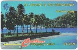 ST. VINCENT & GRENADINES A-063 Magnetic Cable & Wireless - Landscape, Coast - 142CSVA - Used - San Vicente Y Las Granadinas