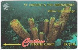 ST. VINCENT & GRENADINES A-076 Magnetic Cable & Wireless - Animal, Sea Life, Sponge - 142CSVB - Used - San Vicente Y Las Granadinas