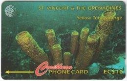 ST. VINCENT & GRENADINES A-077 Magnetic Cable & Wireless - Animal, Sea Life, Sponge - 101CSVA - Used - San Vicente Y Las Granadinas