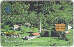 ST. VINCENT & GRENADINES A-080 Chip Cable & Wireless - View, Rural Village - Used - San Vicente Y Las Granadinas