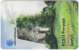 ST. VINCENT & GRENADINES A-081 Prepaid Cable & Wireless - Culture, Ruin - Used - San Vicente Y Las Granadinas