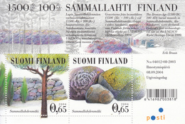 2004 Finland UNESCO Lichen Covered Rocks Souvenir Sheet Complete MNH - Unused Stamps