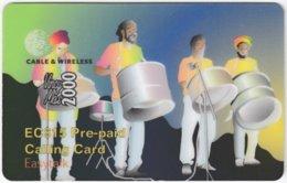 ST. VINCENT & GRENADINES A-087 Prepaid Cable & Wireless - Painting, Street Life - Used - Saint-Vincent-et-les-Grenadines